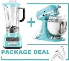 Martha Stewart Kitchen Appliances - kitchenaid martha stewart blue 5 speed blender u0026 stand mixer hand