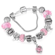 silver european bracelet images European style vintage silver plated crystal charm bracelet jpg