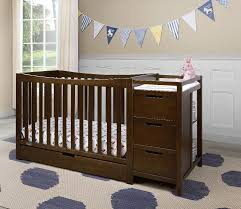 Convertible Cribs With Attached Changing Table by Graco Remi 4 In 1 Convertible Crib And Changer Espresso Toys
