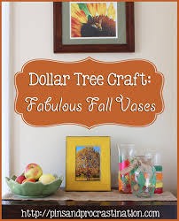 dollar tree craft fabulous fall vases pins and procrastination