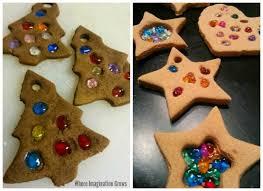 salt dough melted bead tree ornaments