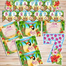 luau birthday party luau party diy kit digital files by partykidshop
