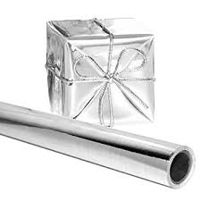 foil gift wrap silver gift wrapping paper 26 in x 25 roll