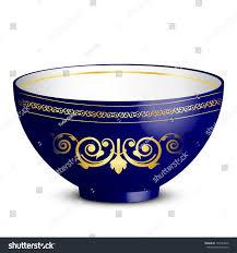 vector illustration bowl ornament stock vector 158144552