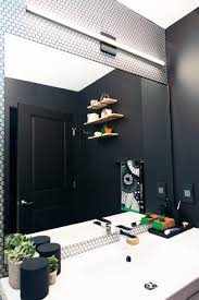 basic bathroom gets a graphic modern renovation modern