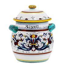 italian kitchen canisters biscotti jars italian ceramics deruta