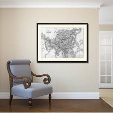 Map Home Decor Asia Vintage B U0026w Map Home Decor Wall Art Bedroom Liviingroom