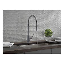 Kitchen Pro Style Kitchen Faucet by Delta Trinsic Pro 9659 Ar Dst Delta U0027s Restaurant Style Pull Down