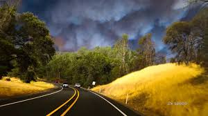 Wildfire Jumps California Freeway Torches Cars by Valley Fire California 09 13 15 1080p Hidden Valley Middletown