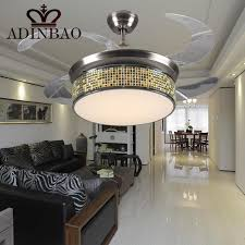 ceiling fan with bright light chinese style small ceiling fan colorful edge lightweight acrylic