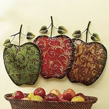 apple home decor accessories hand painted apples wall art from ginny s kitchen decor