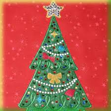 christmas tree collage digidoodlez embroidery machine designs