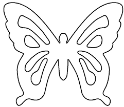 startling butterfly stencil printable 4 in coloring pages with