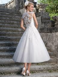 Queen Anne by Sincerity 3875 Queen Anne Tea Length Bridal Dress Dimitradesigns Com
