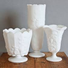 Footed Glass Vase Best Milk Glass Flower Vase Products On Wanelo