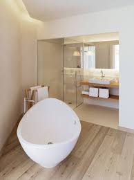 master small bathroom designs with oval white bath tub combined