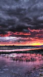dramatic wallpaper dramatic sunset over frozen marsh android wallpaper free download