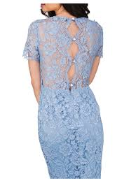 norman dresses norman corded lace sleeve dress in blue lyst
