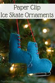 sewn felt skate ornaments