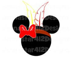 minnie mouse indian instant thanksgiving digital clip