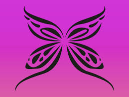 simple butterfly tattoo vector art u0026 graphics freevector com