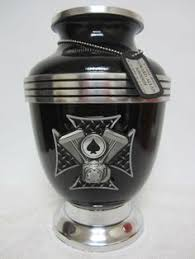 custom urns black with metallic fleck cremation motorcycle gas tank urn custom