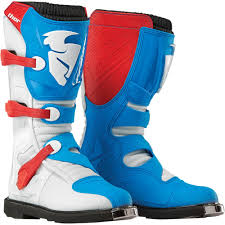 motocross youth boots thor 2015 blitz mx boots red blue wide selection of thor 2015