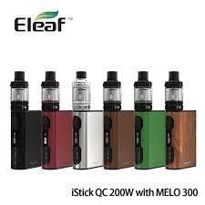Eleaf Istick Qc 200w 5000mah Vaporizer With Melo 300 Brown 100 Original Eleaf Istick Qc 200w With Melo 300 Kit 5000mah Battery