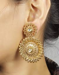 earring design buy much more south fully gold plated polki earrings set women