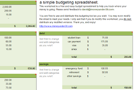 Basic Excel Spreadsheet Templates Free Budget Spreadsheet Monthly Budget For Excel