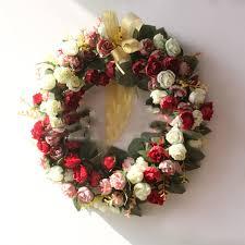 35 cm diameter wreath door rose flower bedroom pendant wedding