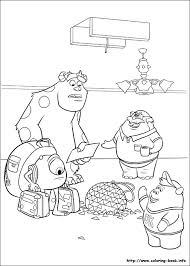 coloring page monsters inc coloring pages monsters inc lezardbreton info