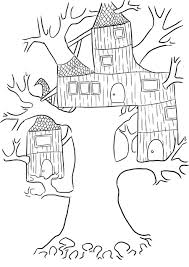 tree house free coloring pages on art coloring pages