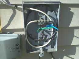 connecting tv antenna coaxial cable to existing cable box outisde
