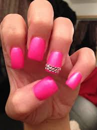 pink nail designs with rhinestones pink nail designs pinterest