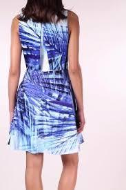 blue palm print dress karen millen