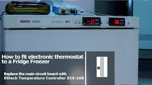 fitting electronic thermostats to fridge freezer youtube