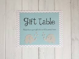baby shower sign baby shower poster light blue and chevron elephants welcome to
