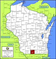 A Map Of Wisconsin by Lis202sec308 Licensed For Non Commercial Use Only Green County Wi