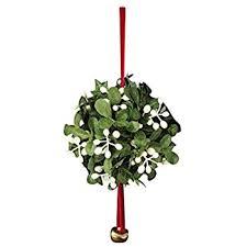 christmas mistletoe kurt adler mistletoe christmas ornament home