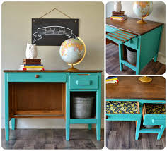 Refurbished End Tables by Vintage Office Desk Painted In Florence Chalk Paint