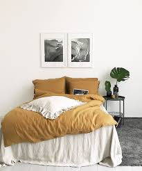 Organic Duvet Cover King Linen Duvet Cover Mustard Color Soft Organic Stonewashed Pure