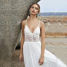spaghetti strap beach wedding dress vosoi com