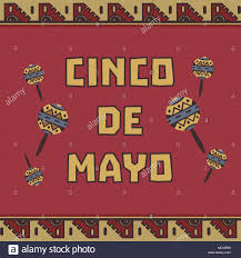 cartoon cinco de mayo mexican fiesta holiday cinco de mayo freehand drawn maracs cartoon