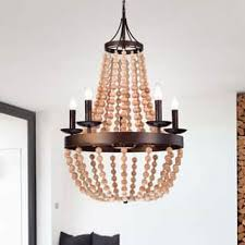Antique Wood Chandelier Wood Ceiling Lights For Less Overstock Com