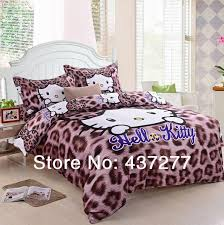 Leopard Bed Set Leopard Print Hello Bedding Sets Cotton