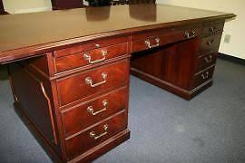 kimball president executive desk kimball executive desk mahogany ebay