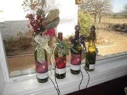 handcrafted christmastime wine bottle lights on the tasting room s