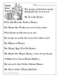 easter story starters 4th 5th grade worksheet lesson planet