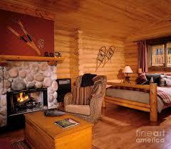 small log home interiors resort log cabin interior photograph by robert pisano
